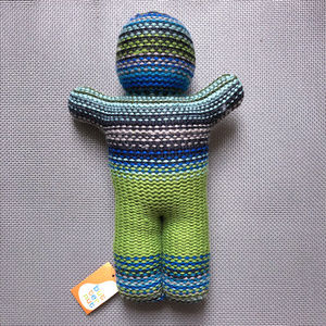 Butternut Other - NEW Baby Shower Gift Knit Doll Striped Adorable